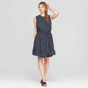 Universal Thread linen-blend striped dress